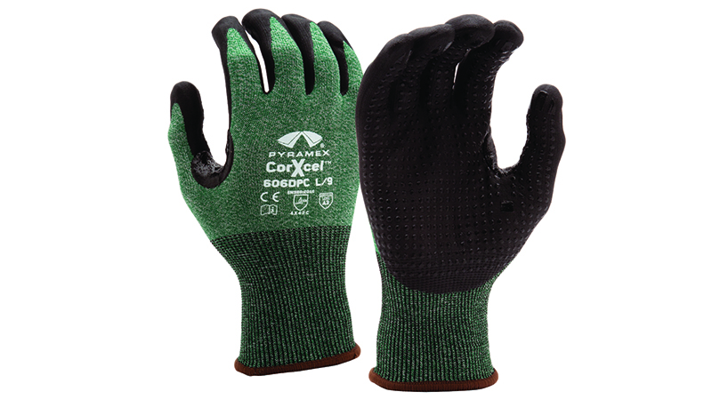 Pyramex GL606DPC Micro-Foam Nitrile Gloves with Dotted Palms Cut resistant