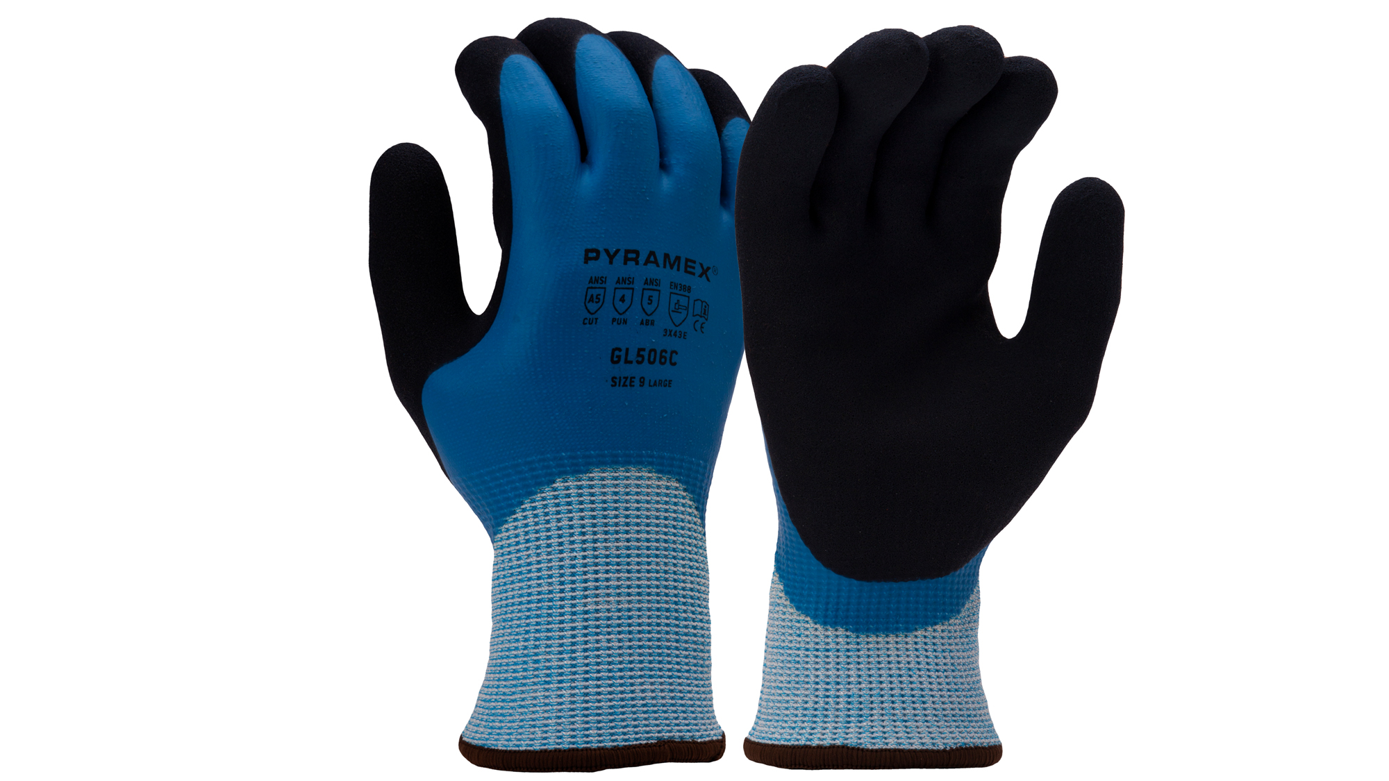 Pyramex GL506C Insulated Sandy Latex Gloves