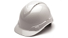 Ridgeline Vented Shiny White Graphite Patern Cap Style Hard Hat