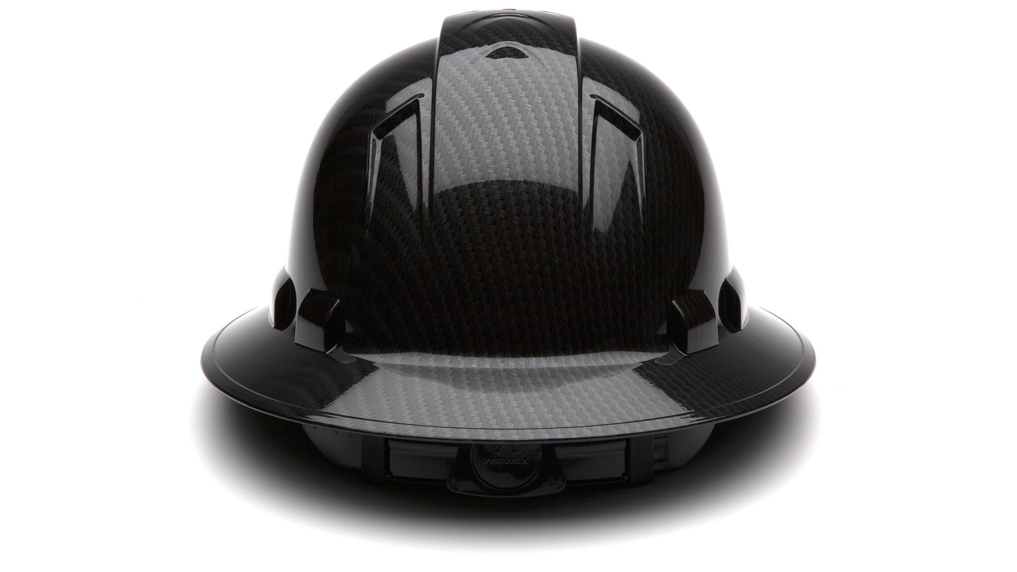 Ridgeline Shiny Graphite Pattern Full Brim Hard Hat acbc2193a2e5
