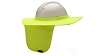 Pyramex HPSHADE30 Hard Hat Brim with Neck Shade - Lemon Lime