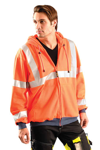 OccuLux ANSI Ultra Soft Wicking Zip-Up Sweatshirt - Class 3