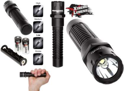 Nightstick Xtreme Lumens Metal Multi-Function Tactical Flashlight - LED -  2 CR-123