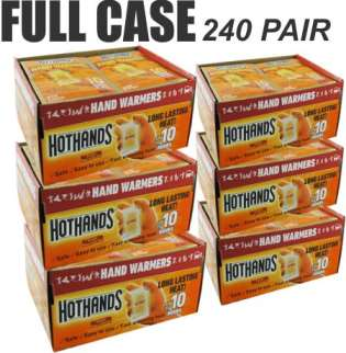 Case Of 240 Pair Hothands Hand Warmers