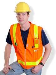 OccuLux ANSI Class 2  Surveyor's Vest (Solid/Mesh) (Zipper Closure)