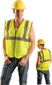 OccuLux ANSI Class 2 Safety Vest - Economy (Solid) (Hook Loop Closure)