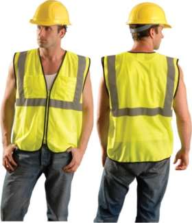 OccuLux ANSI Class 2 Safety Vest - Economy Surveyor's  (Mesh) (Zipper)