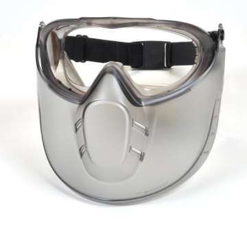 Capstone Shield Gray Frame/Clear Anti-Fog Lens with faceshield  (SINGLE)