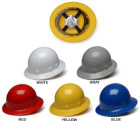 Pyramex Full Brim - Sleek Shell Hard Hats - With 4 Point Ratchet Suspension