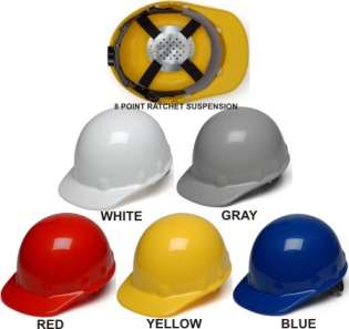 Pyramex Cap Style - Sleek Shell  Hard Hats - With 4 Point Ratchet Suspension