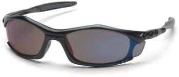 Solara - Black Frame Blue Mirror Lens