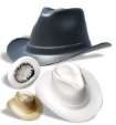 Vulcan Cowboy Hard Hat With 6 point Squeeze-Lock Suspension