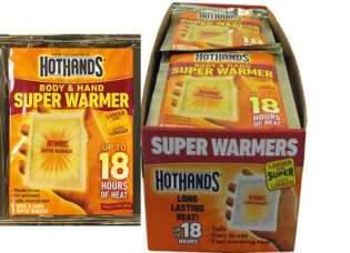 HotHands Body & Hand SUPER Warmers (18 Hour Warmers) Box With 40 Warmers (HH-1)