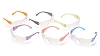12 Pack Intruder Safety Glasses - Clear Lens/Multi Colored Temples