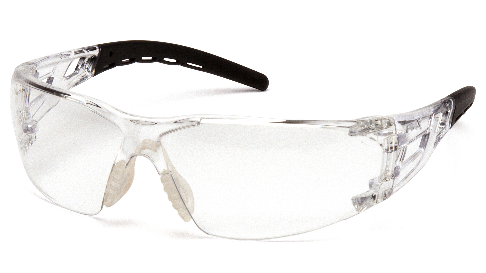 Fyxate Clear H2X Anti-Fog Clear And Black Temples
