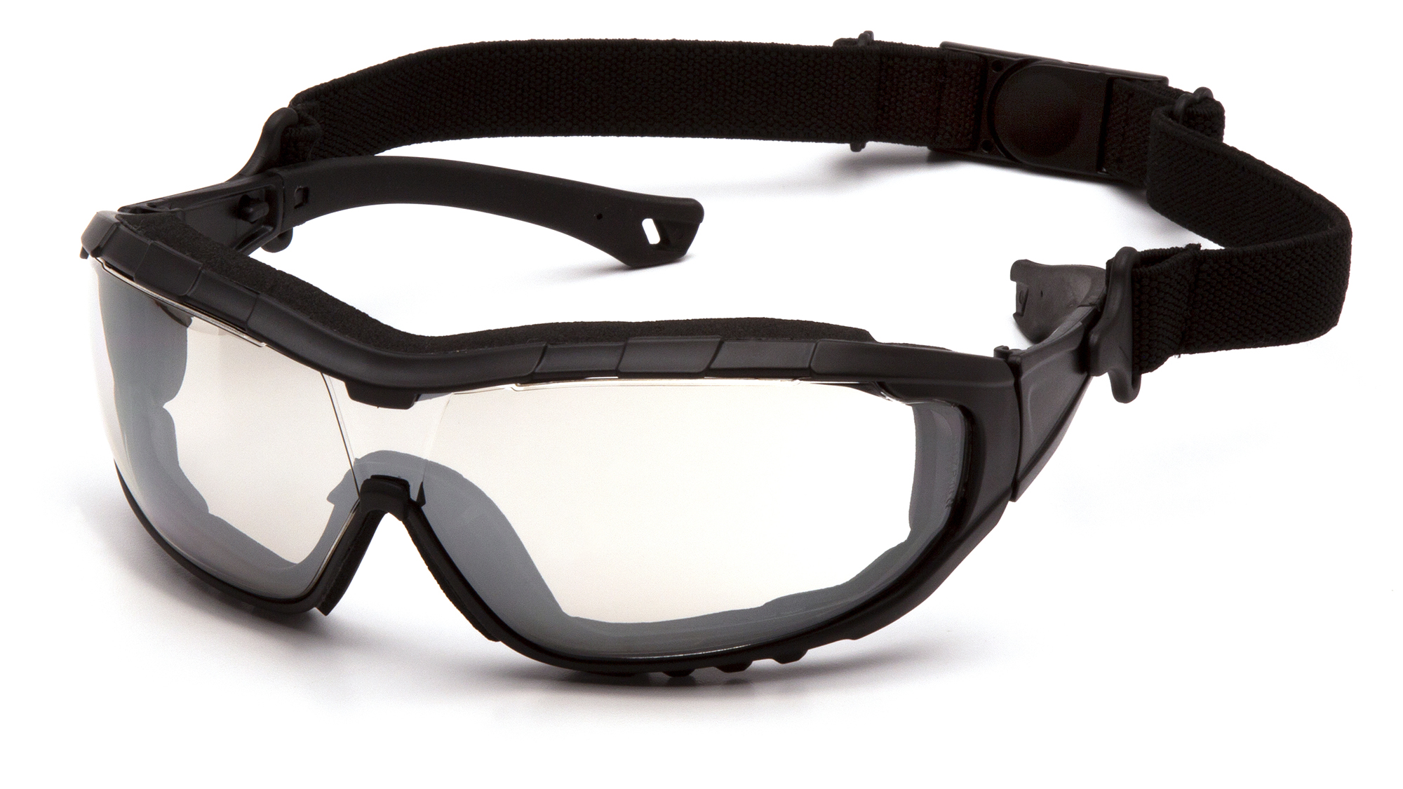 V3T - Indoor/Outdoor Mirror Anti-Fog Anti-Fog Lens Black Temples/Strap