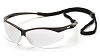 PMXTREME Safety Glasses - Black Frames Clear Anti-Fog Lens