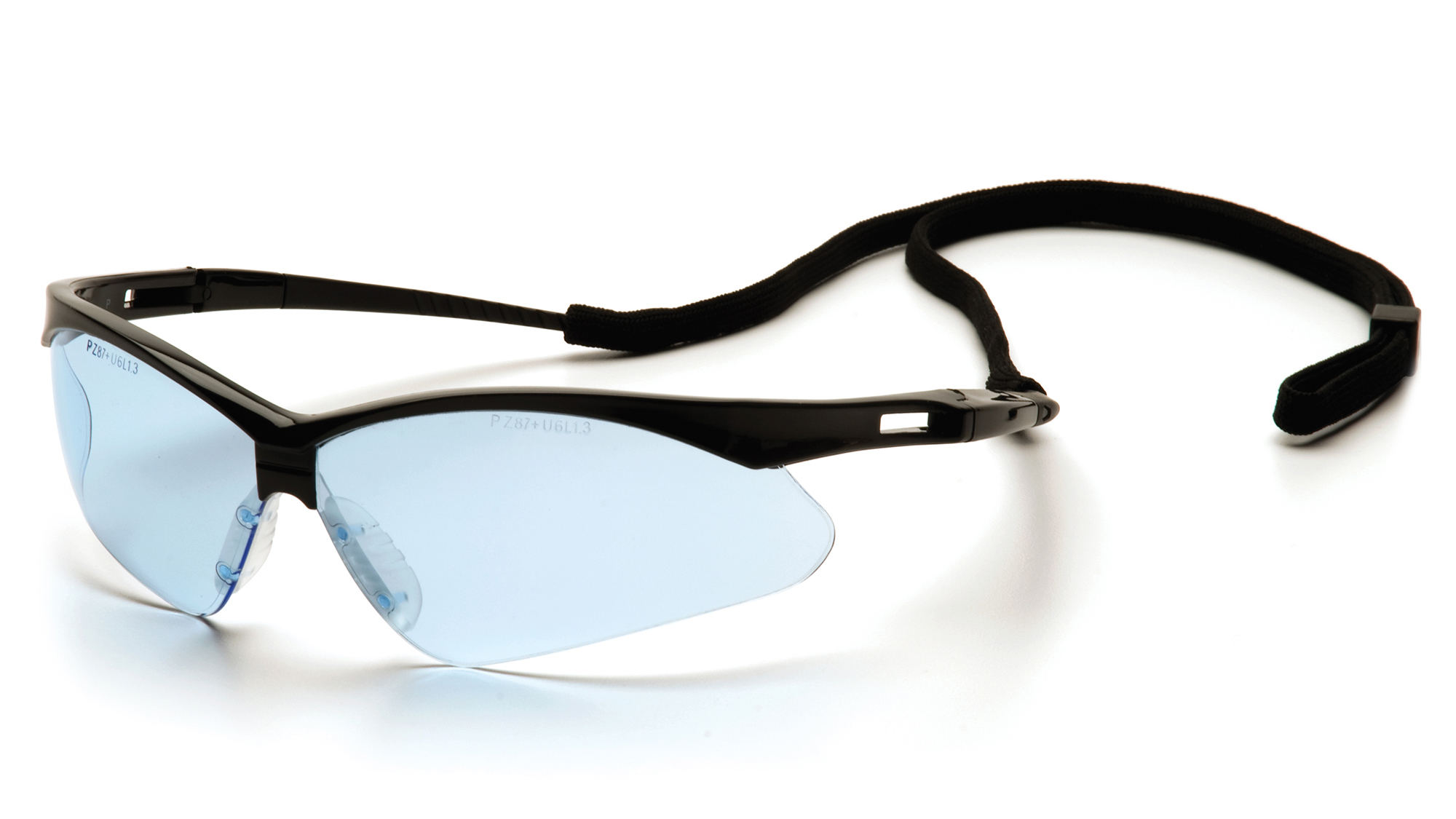 PMXTREME Safety Glasses - Black Frames Infinity Blue Lens