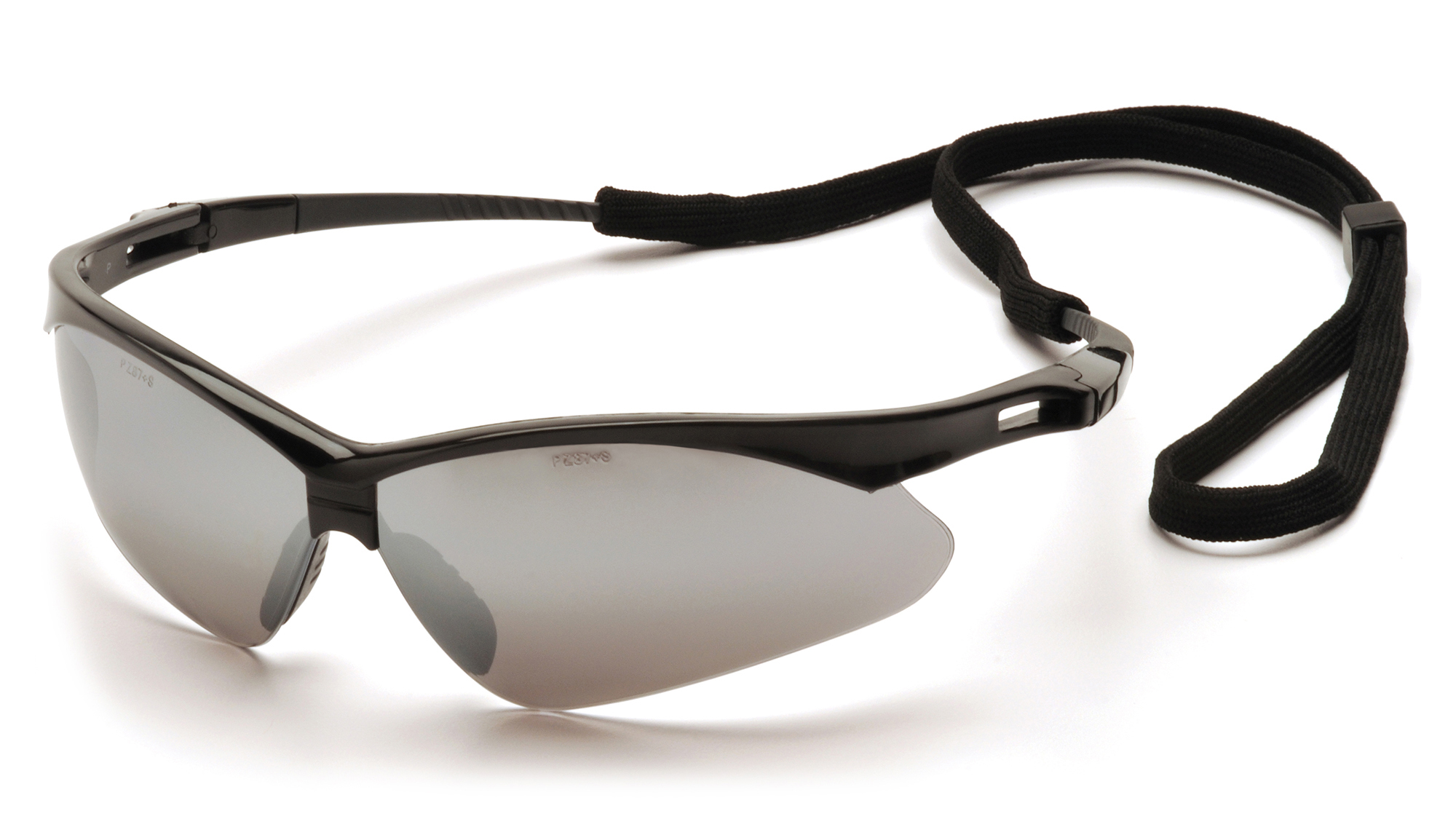 PMXTREME Safety Glasses - Black Frames Silver Mirror Lens