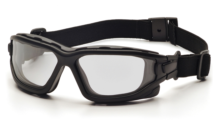 I-Force Slim Clear Dual Anti-Fog Lens with Black Temples/Strap