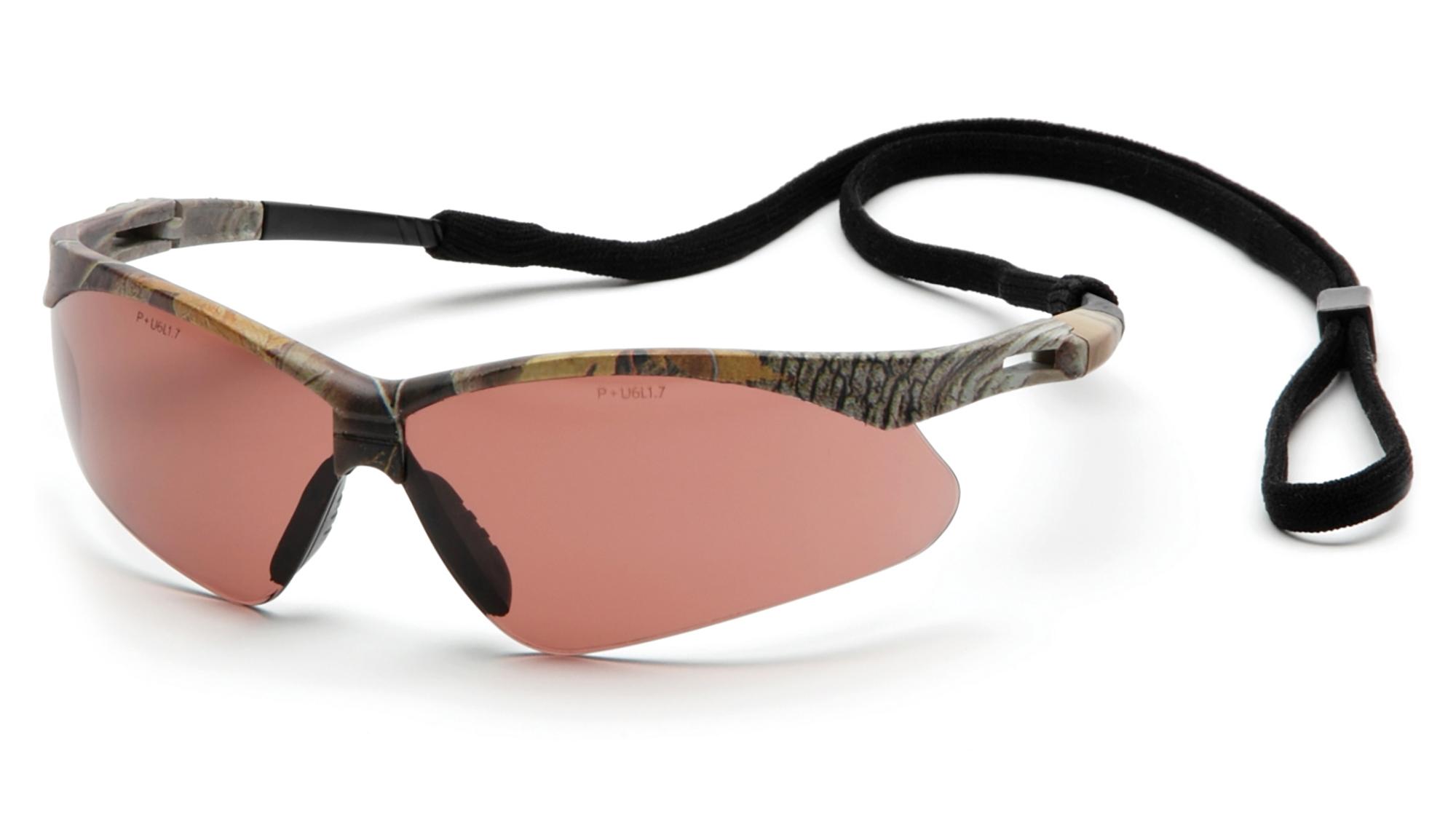 PMXTREME Safety Glasses - Black Frames Clear Lens