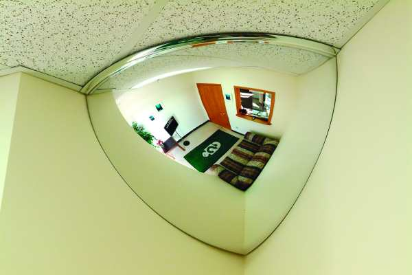 19 Inch 90 Degree Viewing 1/4 Dome Mirror