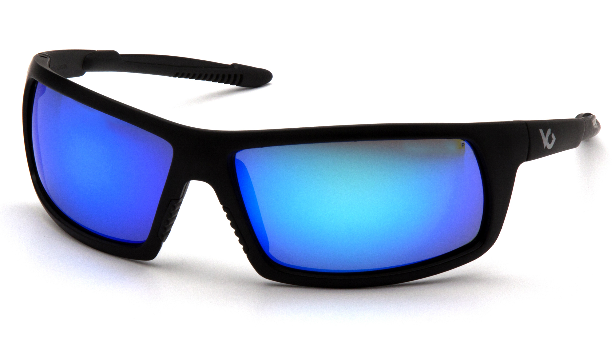 Venturegear Tactical - Stonewall Safety Glasses - Ice Blue Mirror Anti-Fog Lens Black Frame