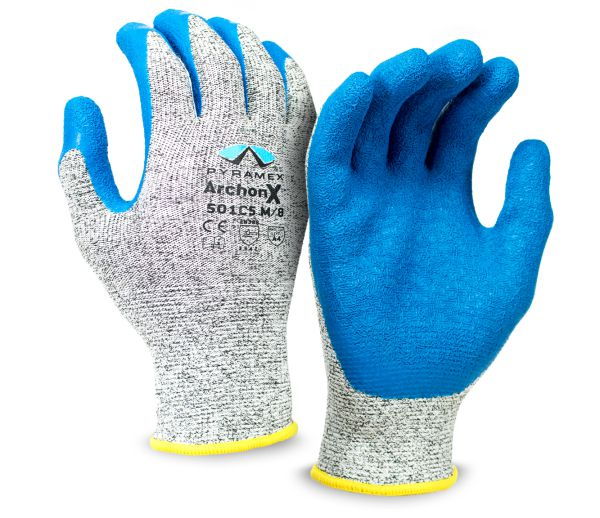 Pyramex GL501C5 ArchonX - Crinkle Latex Gloves - Pair
