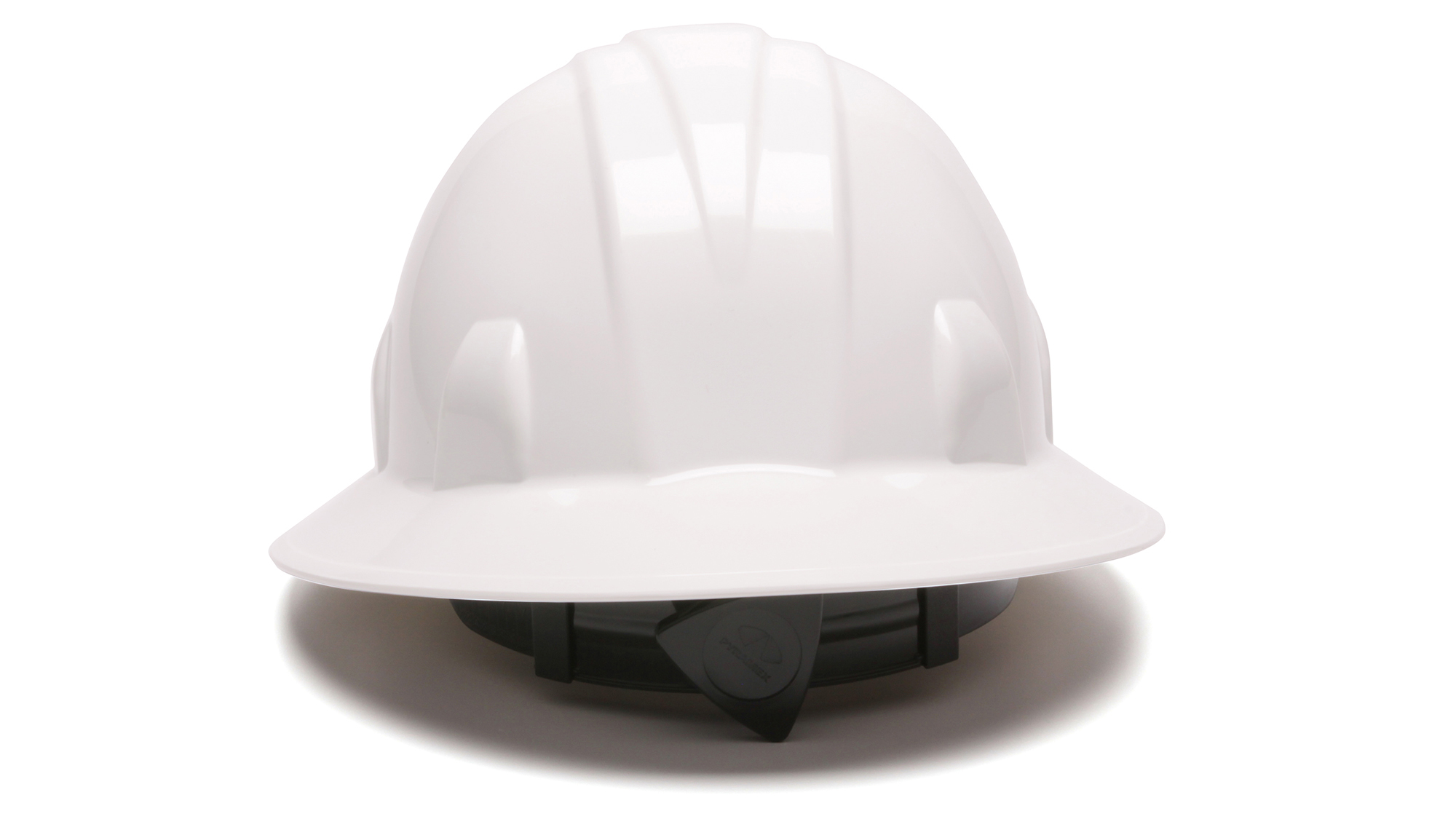 Pyramex Full Brim Hard Hat - With 4 Point Ratchet Suspension