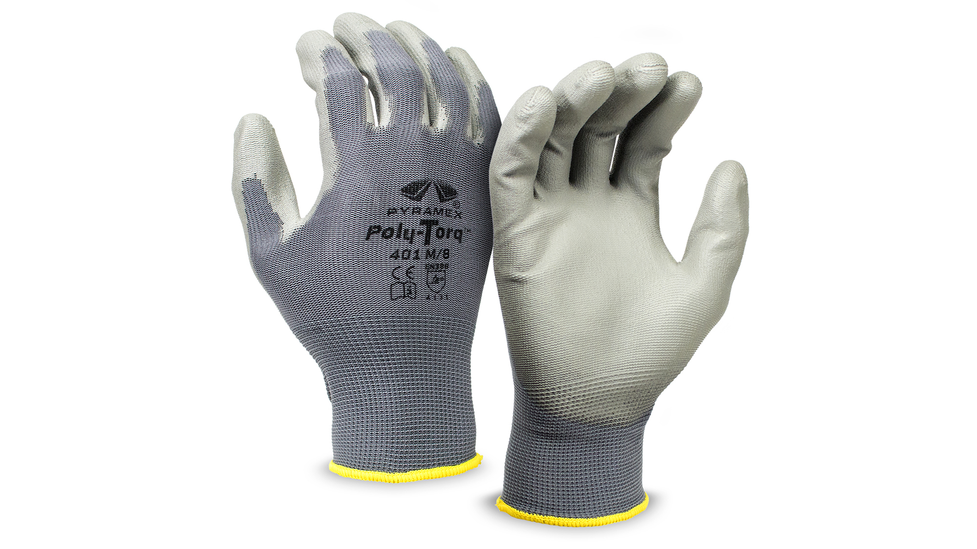 Pyramex GL401 Poly-Torq Polyurethane  Dipped Gloves - Pair