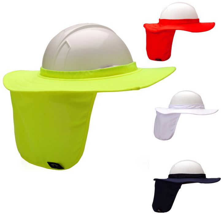 Pyramex HPSHADE Hard Hat Brim with Neck Shade