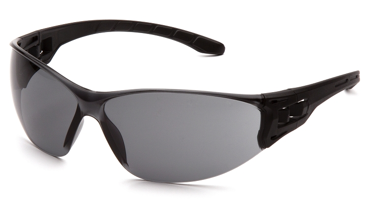 Trulock Safety Glasses - Gray Lens Black Temples