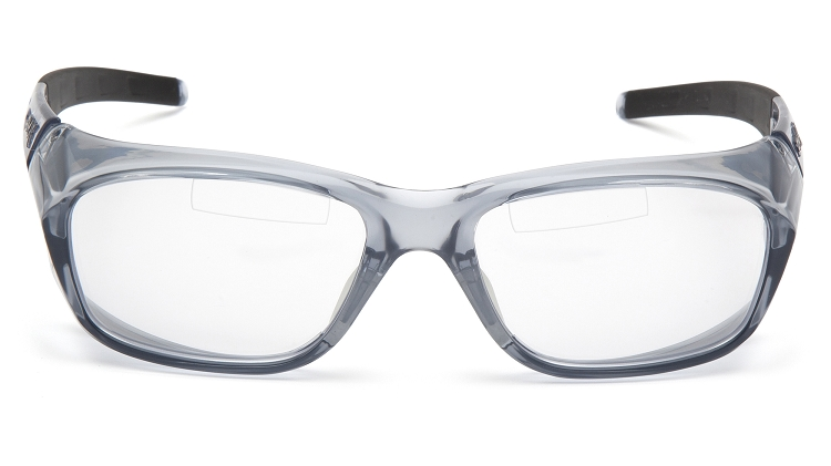 6 Pack - Emerge Plus - Clear TOP Reader Bi-Focal Lens - Gray Frame +2.0
