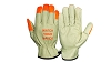 Pyramex GL2003K Series Grain Cowhide Leather Driver Gloves Keystone Thumb w/ HiVis
