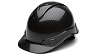 Ridgeline Shiny Black Graphite Pattern Cap Style Hard Hat