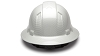Ridgeline Shiny White Graphite Full Brim Hard Hat