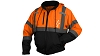 Pyramex RJ3120 ANSI Class 3 Hi-Viz Convertible Black Bottom Bomber Jacket - Orange