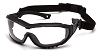 V3T - Clear Anti-Fog Lens Black Temples/Strap
