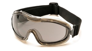 Low Profile Chemical Splash Goggle with Gray Anti-Fog Lens