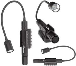 CASE OF 4 - Nightstick Mini-TAC Gooseneck - LED - 2AA