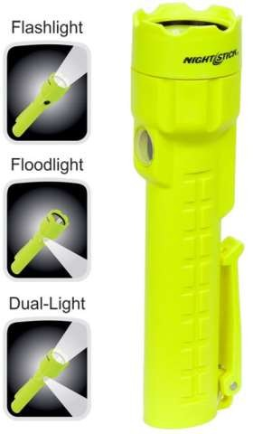 CASE OF 4 - Nightstick Intrinsically Safe Dual-Light - LED - 3AA