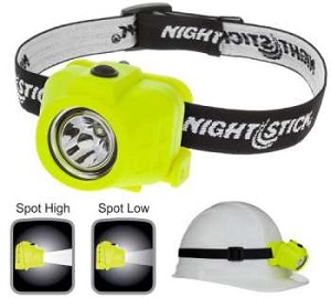 CASE OF 4 - Nightstick Intrinsically Safe Dual-Function Headlamp - LED - 3 AAA