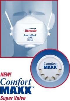 Bag Of 10 - Gerson Smart Mask Particulate Respirators W/Valve - N95
