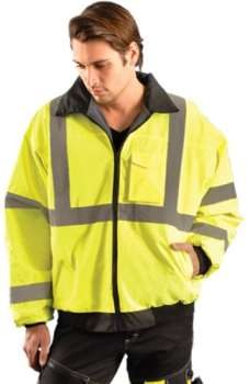 Blow-Out - OccuLux ANSI Class 3 Hi-Viz Value Bomber Jacket  - Limited Supply