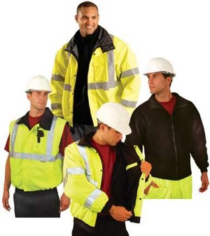 Blow-Out - OccuLux ANSI Class 3 Hi-Viz Convertible Bomber Jacket - Limited Supply
