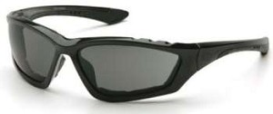 Accurist Safety Glasses - Gray Lens Black Frame