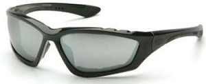 Accurist Safety Glasses - Silver Mirror Lens Black Frame