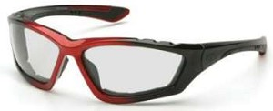Accurist Safety Glasses - Clear Lens Black/Red Frame