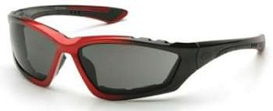Accurist Safety Glasses - Gray Lens Black/Red Frame