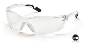 Achieva - Gray Twist Temples/Clear Anti-Fog Lens
